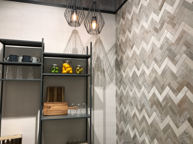 Coverings 2017- industrial concrete tile trend