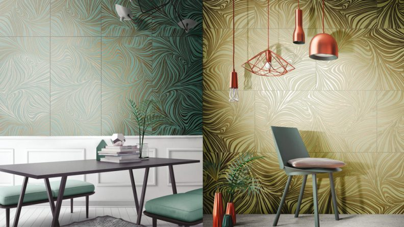 Coverings 2017 - Metallic and mirrored tile trend