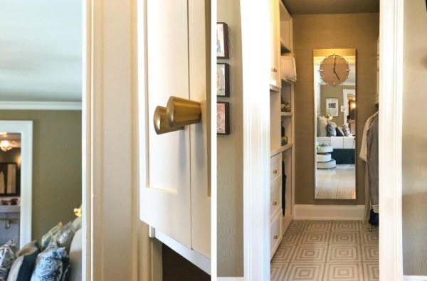 Guest bedroom for the 2017 Pasadena Showcase House-Cozy Stylish Chic - closet