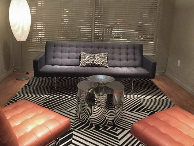 """""""Spacey""""- High-quality Mid-century modern upholstery by Milo Baughman"""