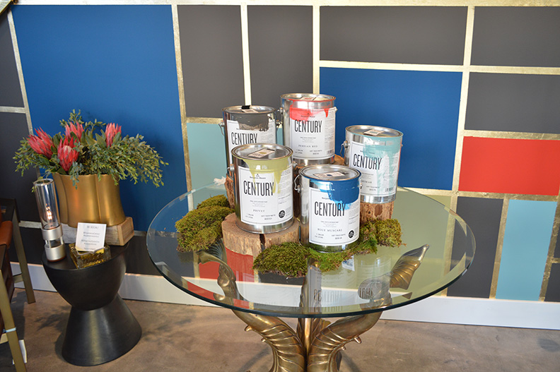 Creating an art wall using Century paint by Benjamin MooreLA launch at Cozy Stylish Chic