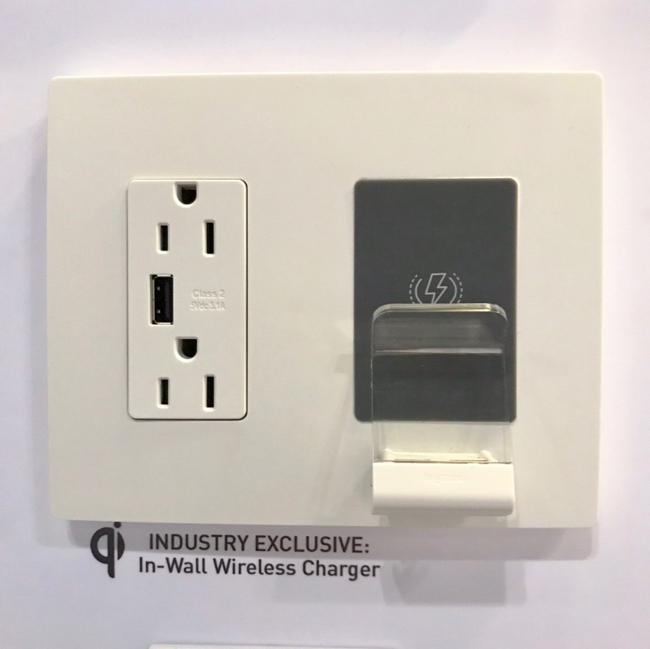 2018 Kitchen and Bath Trends - In-wall wireless charger by Legrand