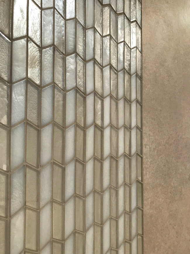 2018 tile trends - Illuminary iridescent glass mosaic tile from Daltile