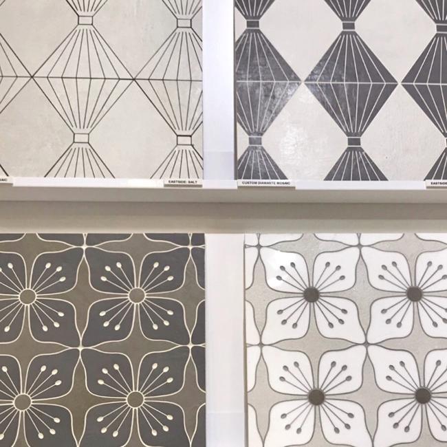 2018 tile trends - customizable stone water jet tile