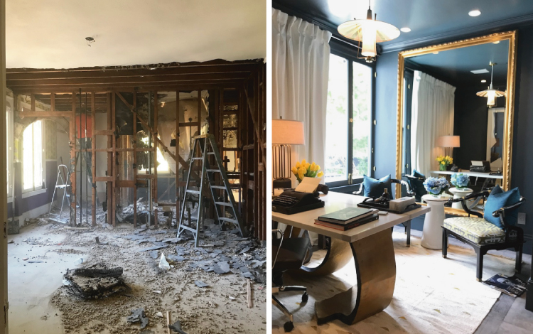 Pasadena Showcase House Before and After - Mans-office