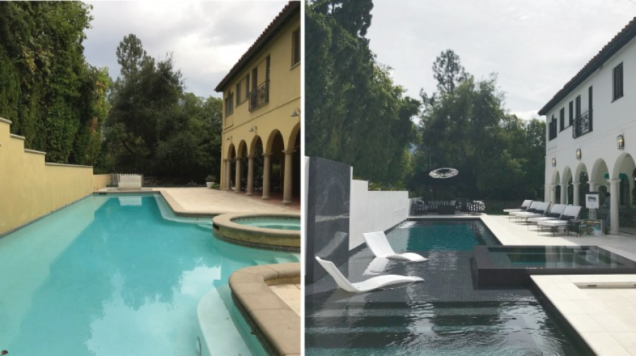Pasadena Showcase House Before and After - Pool