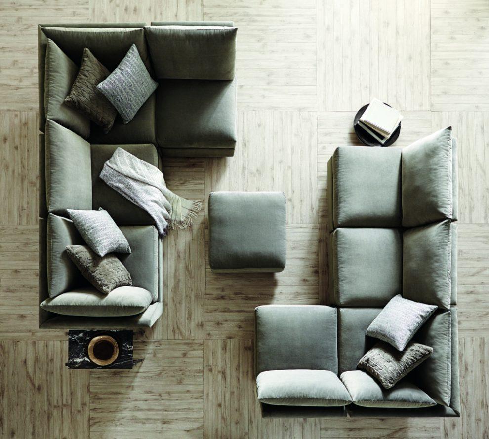Bernhardt sanctuary grey sofa RH Cloud alternative - High Point Market trends