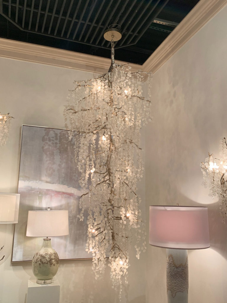 Tree-shaped chandelier with glass leaves Spring 2019 Design Trends - High Point Market