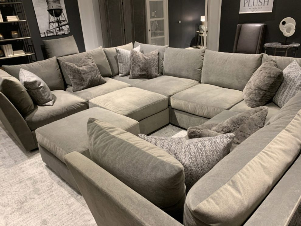 Bernhardt Plush Feather Down Cushion and Sanctuary Sofa Spring 2019 Design Trends - RH Cloud alternative at Highpoint Market