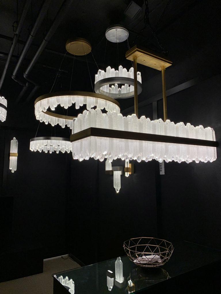 Bundled quartz chandeliers Spring 2019 Design Trends - High Point Market