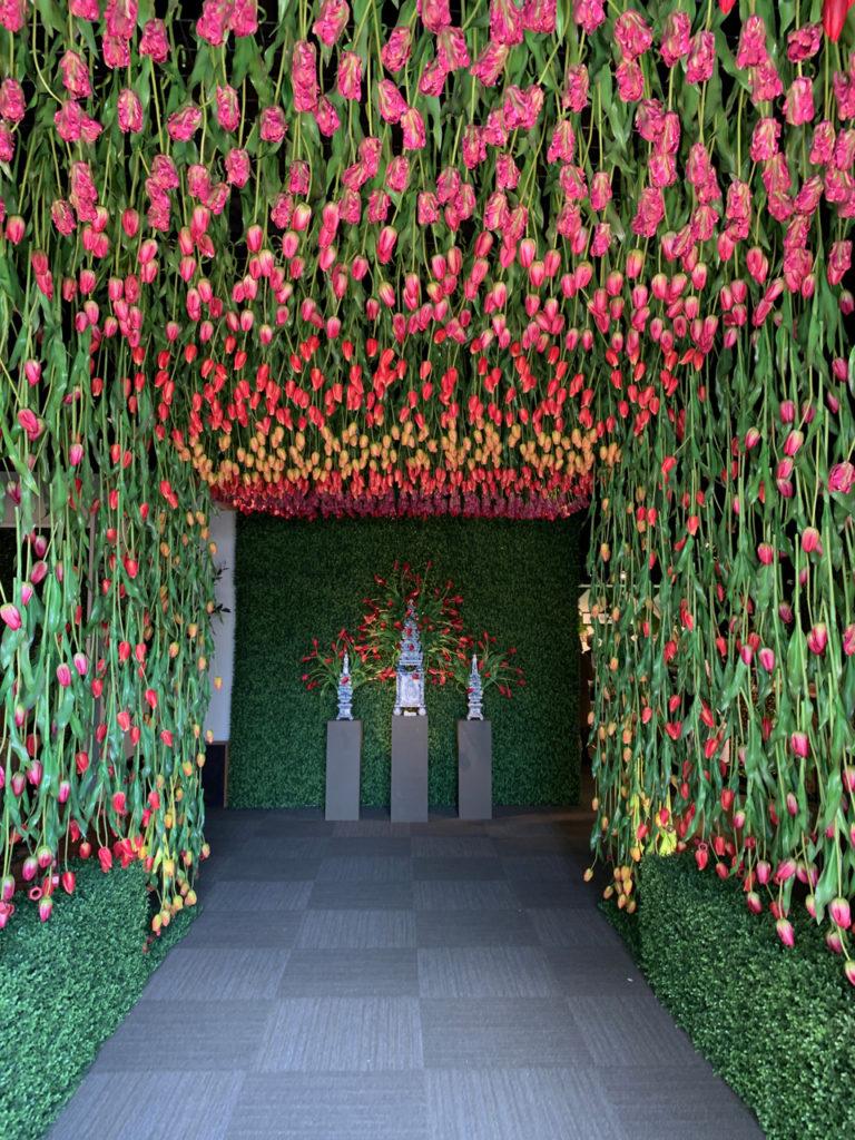 Faux specimen lush living walls 2019 spring design trends at Highpoint Market- biophilic design