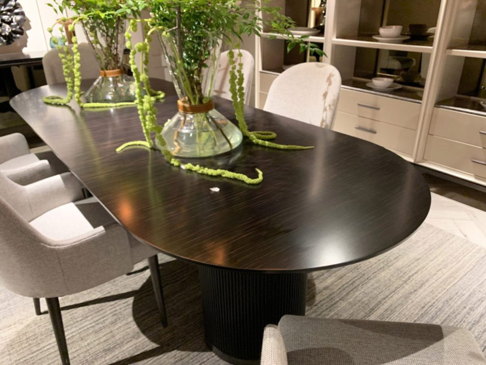 Spring 2019 Design Trends - rounded rectangle tables, High Point Market