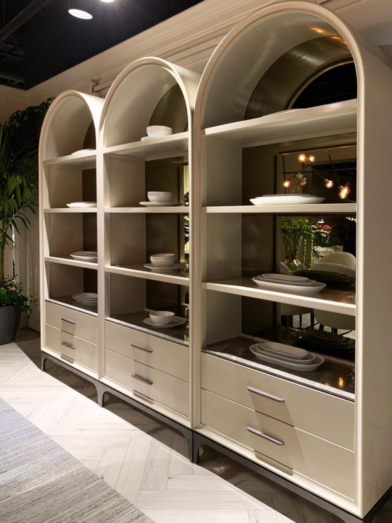 Cream etageres Spring 2019 Design Trends - High Point Market