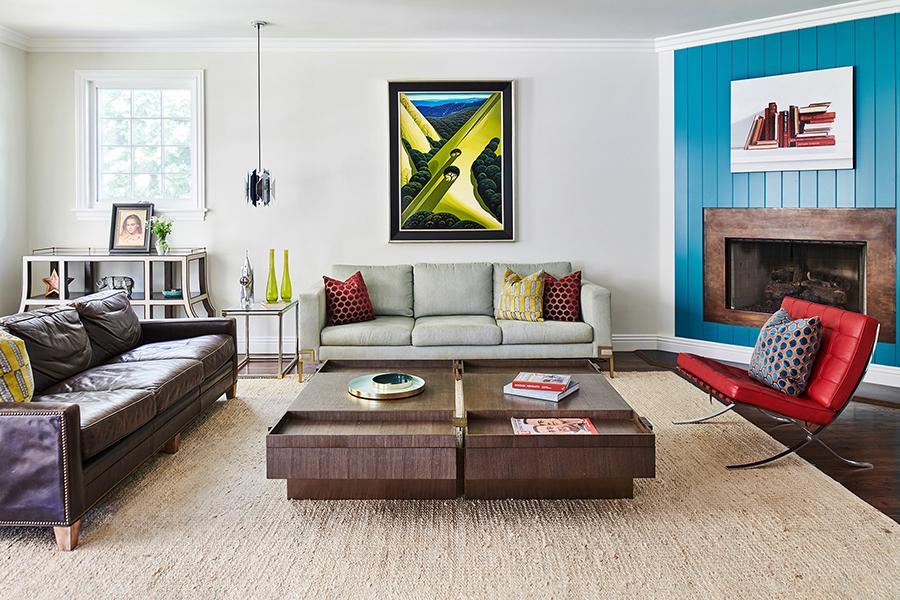 luxury family room - eclectic