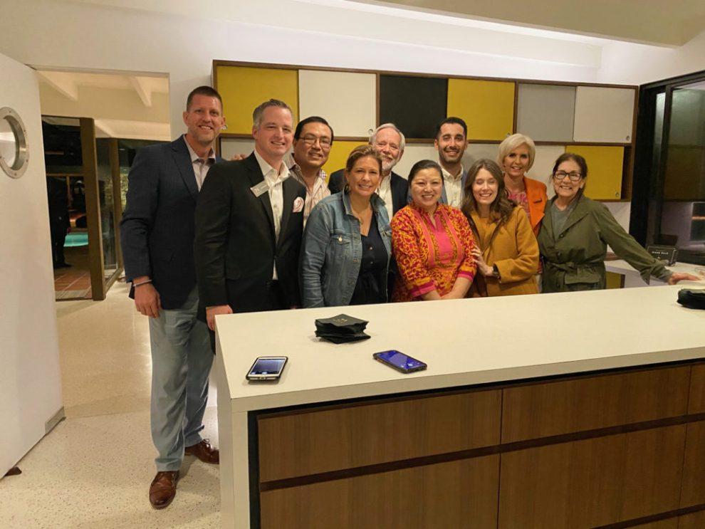 The Monogram Appliances team - Modernism Week 2020 at the Kirk Douglas Estate