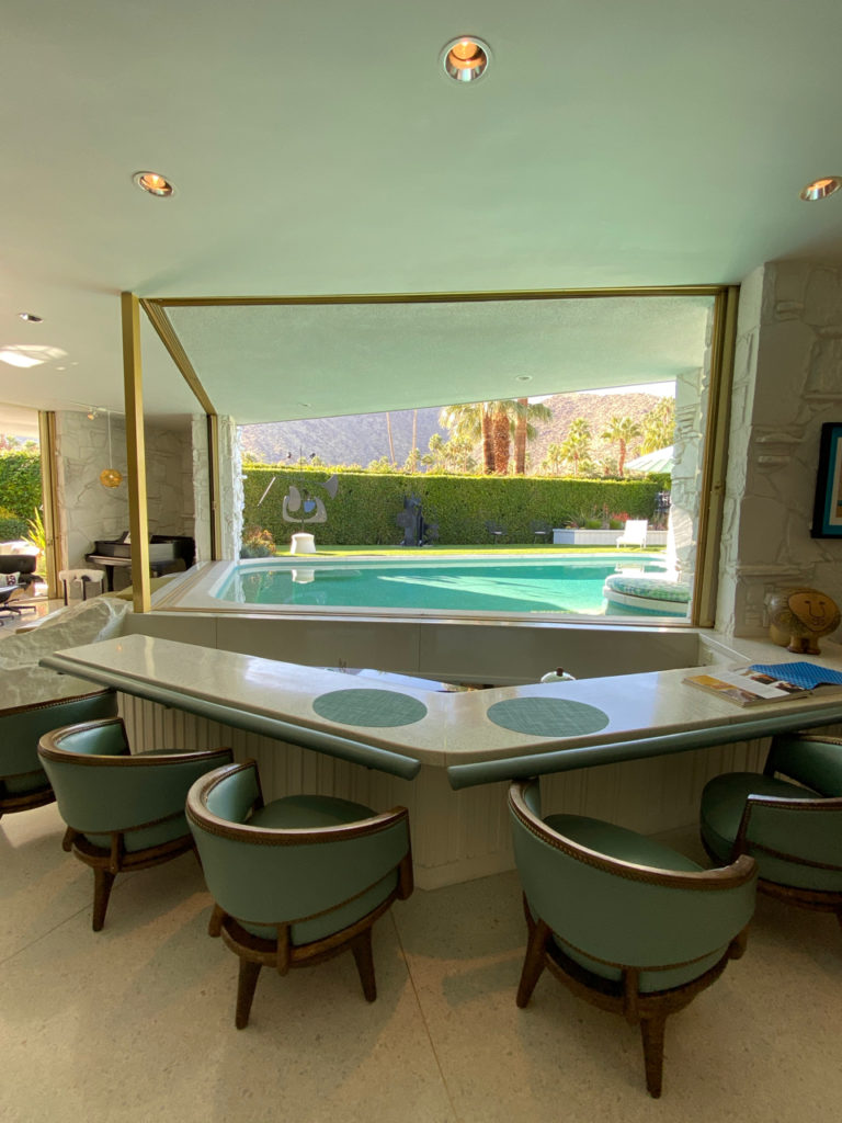 Sunken swim up bar at the Morse House, Palm Springs