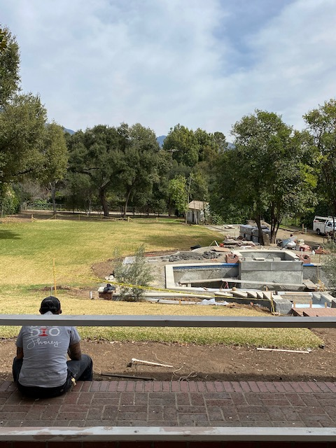 pool during construction