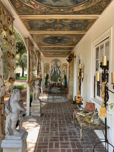 Handpainted Loggia - 2020 Pasadena Showcase House