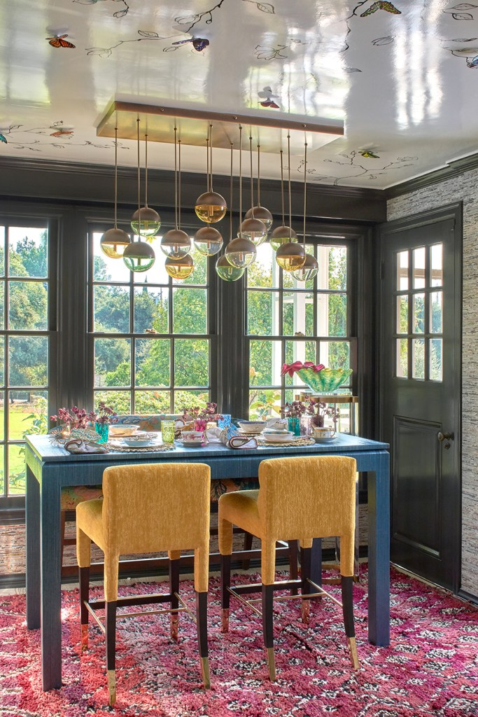 Breakfast Room for the 2020 Pasadena Showcase House designed by Pasadena interior designer Jeanne K Chung of Cozy Stylish Chic