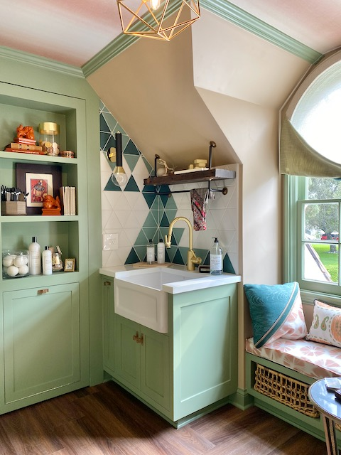Laundry Room - 2020 Pasadena Showcase House -after