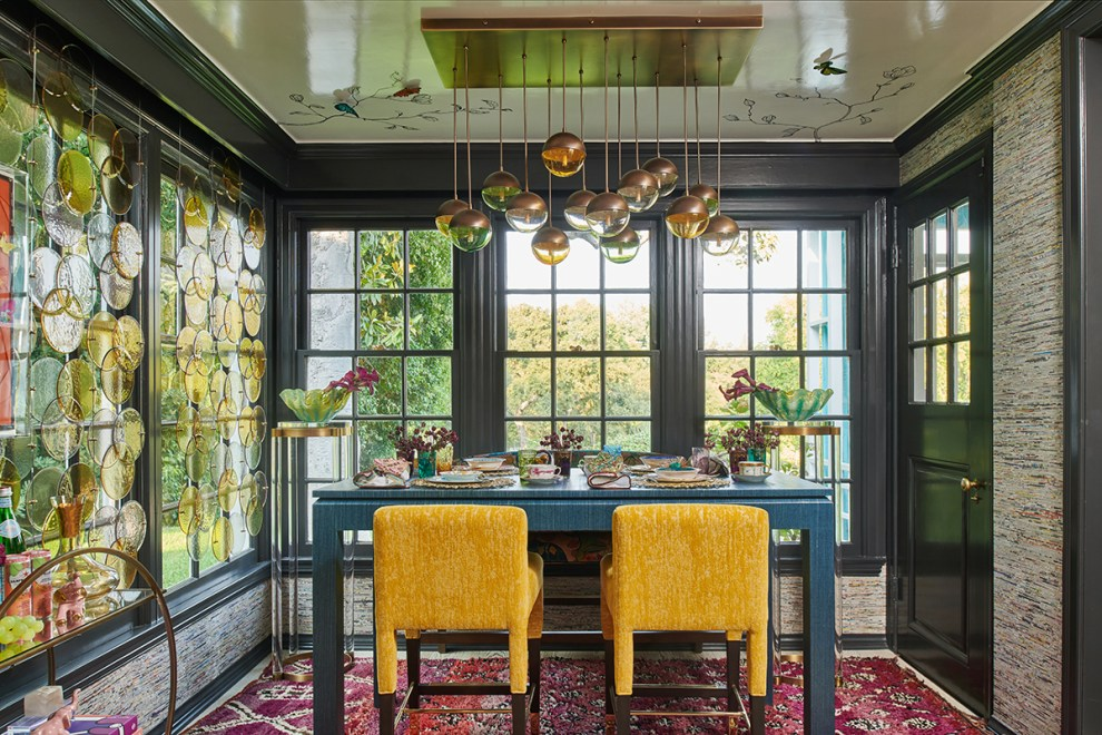 2020 Pasadena Showcase House Breakfast Room designed by Pasadena interior designer Jeanne K Chung of Cozy Stylish Chic