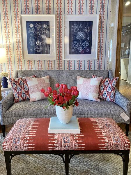 Modern global influences in textile design - High Point Market spring 2021