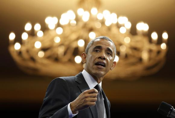 U.S. President Obama speaks at the Summit of the Washington Fellowship for Young African Leaders in Washington