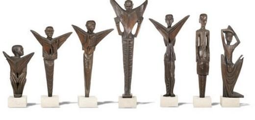 Seven Wooden Sculputures