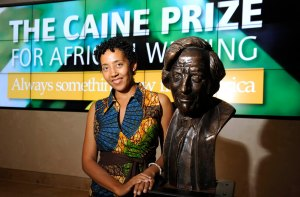 Oxford. 6/7/15 Weston Library. The Caine Prize for African Writing.  Winner, Namwali Serpwell.
