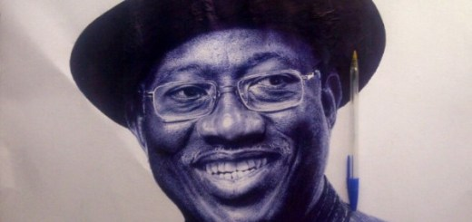 Oscar Chuks Ballpoint pen portrait of Goodluck Jonathan(2)