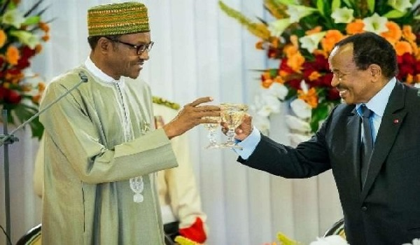 President Muhammadu Buhari and President Paul Biya have agreed to work towards the completion of the demarcation of the land border between Nigeria and Cameroon Image Credit: Daily Trust