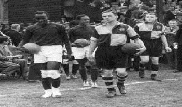 Nigeria's First Ever Goal Keeper, Sam Ibiam pictured right during his active playing days. Credit: Supersport