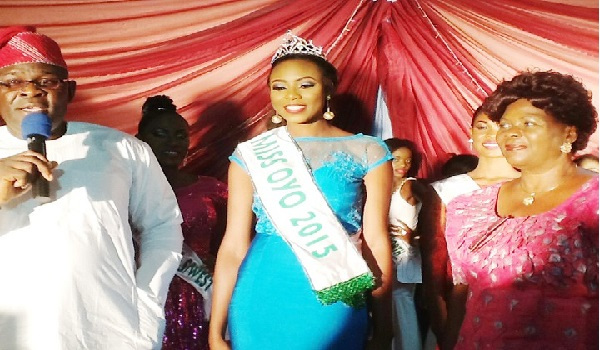 Miss Foyeke Akinyemi at the beauty pageant