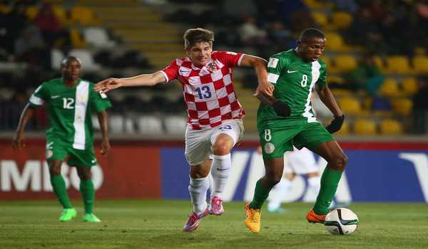 Samuel Chukwueze in action for Nigeria at the tournament