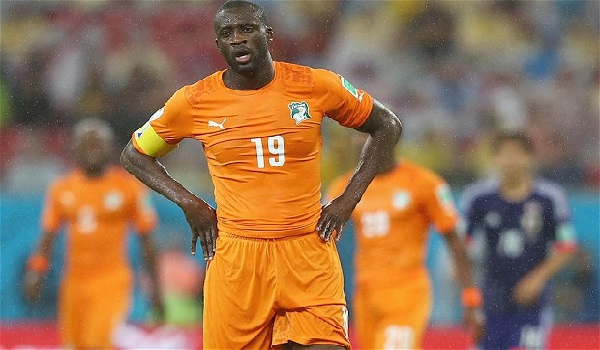 Yaya Toure in action for Ivory Coast Image Credit: Telegraph
