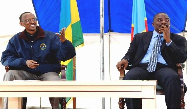 President Paul Kagame of Rwanda and President Joseph Kabila of DRC. Photo credit: Paul Kagame