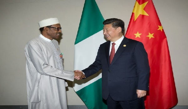 President Buhari and Mr Qin Jian