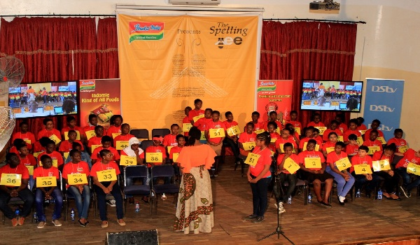 Faces of participants at the Ghana National Spelling Bee competition