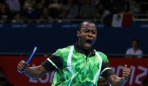 Aruna Quadri at the ITTF championships