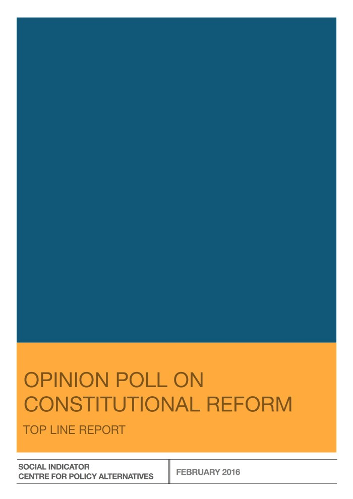 Opinion Poll on Constitutional Reform