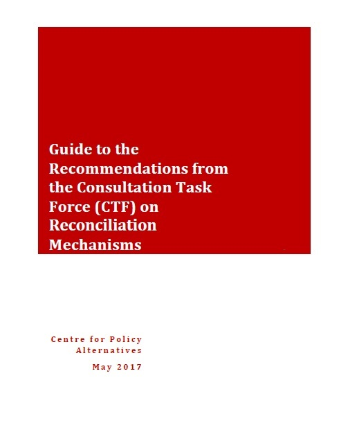 Guide to the Recommendations from the Consultation Task