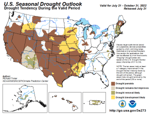 United States Seasonal Drought Outlook Graphic - click on image to enlarge