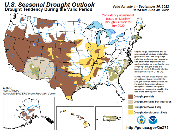 NOAA Spring drought forecast