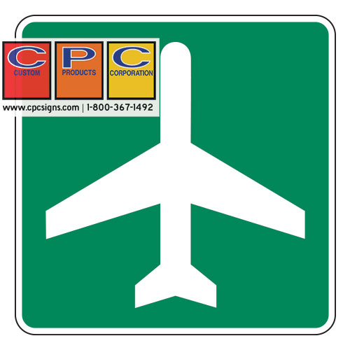 i5 sign i5p plaque airport color green white sign size 24 x 24 plaque