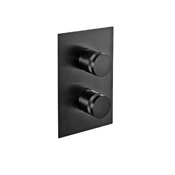 MGS Black Concealed Thermostatic Shower Valve Shower Controls CP Hart