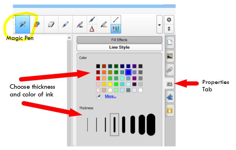 Magic Ink properties tab