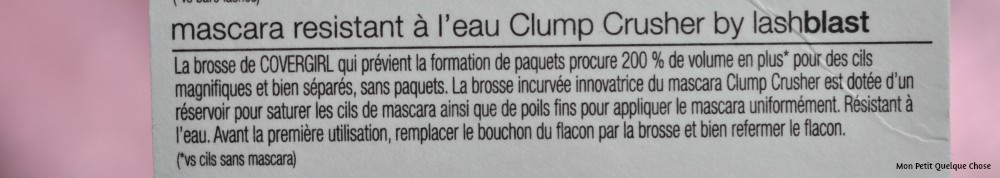 Le mascara Clump Crusher de CoverGirl - Mon Petit Quelque Chose