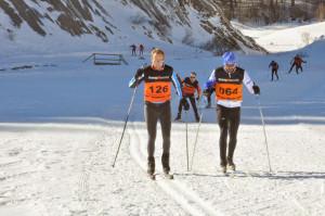 Los menos expertos en el esquí suelen participar en estilo clásico