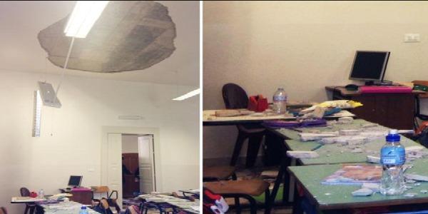 Crolla il soffitto di una scuola elementare ad Ostuni – Cosa è successo?