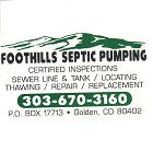 foothills septic plumbing